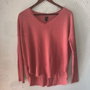 Women's Wild Fable Coral Pink Knit Sweater